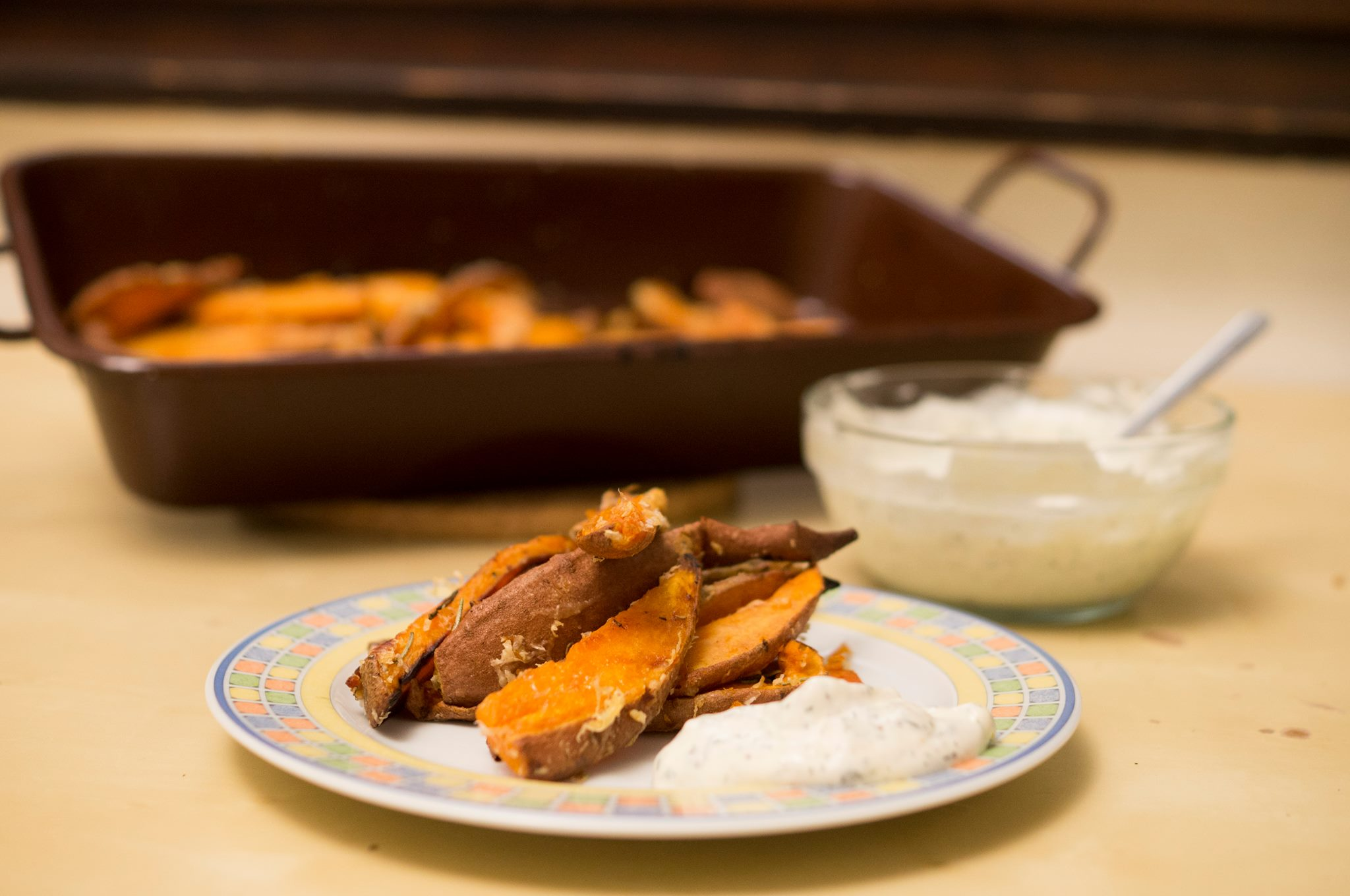 Süßkartoffel-Wedges
