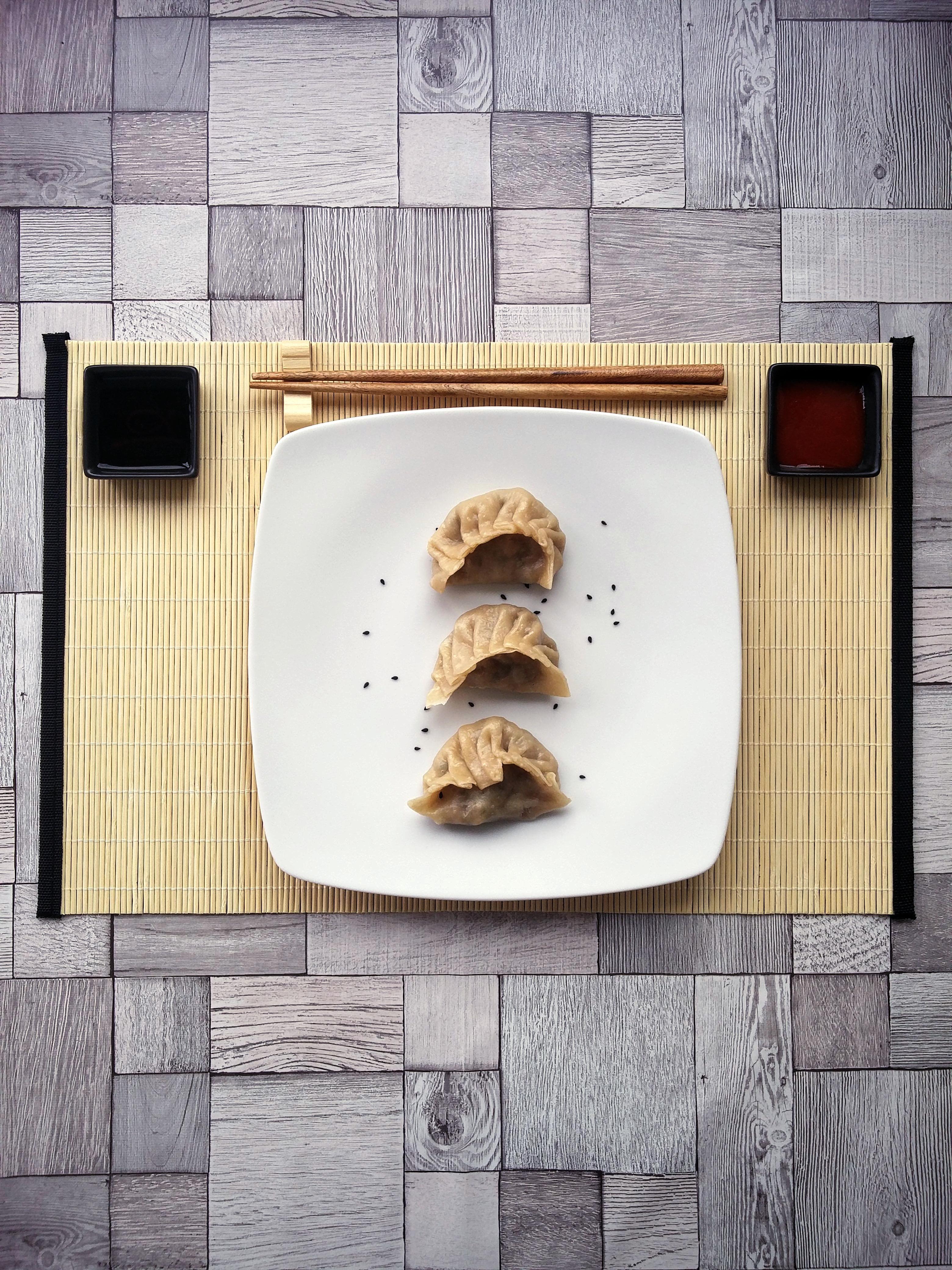 Asiatische Teigtaschen