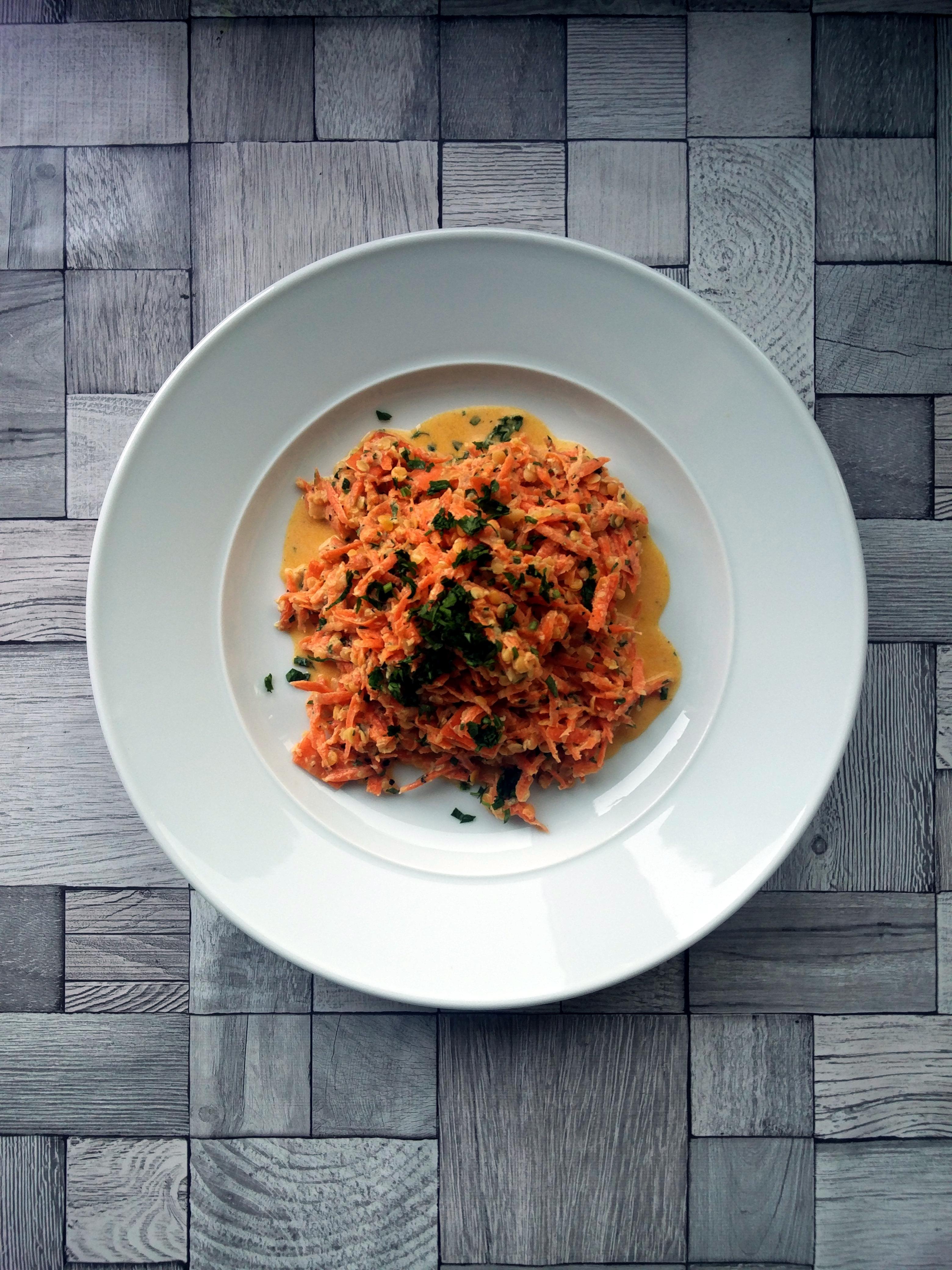Karotten-Linsen-Salat