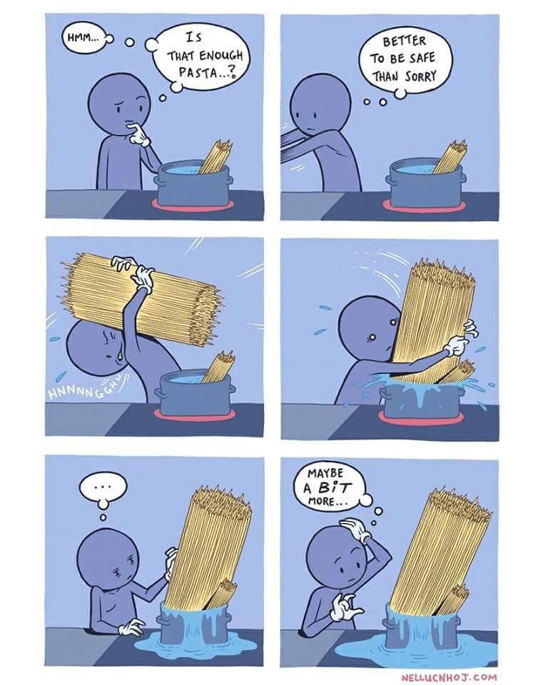 Portionsgröße bei Pasta
