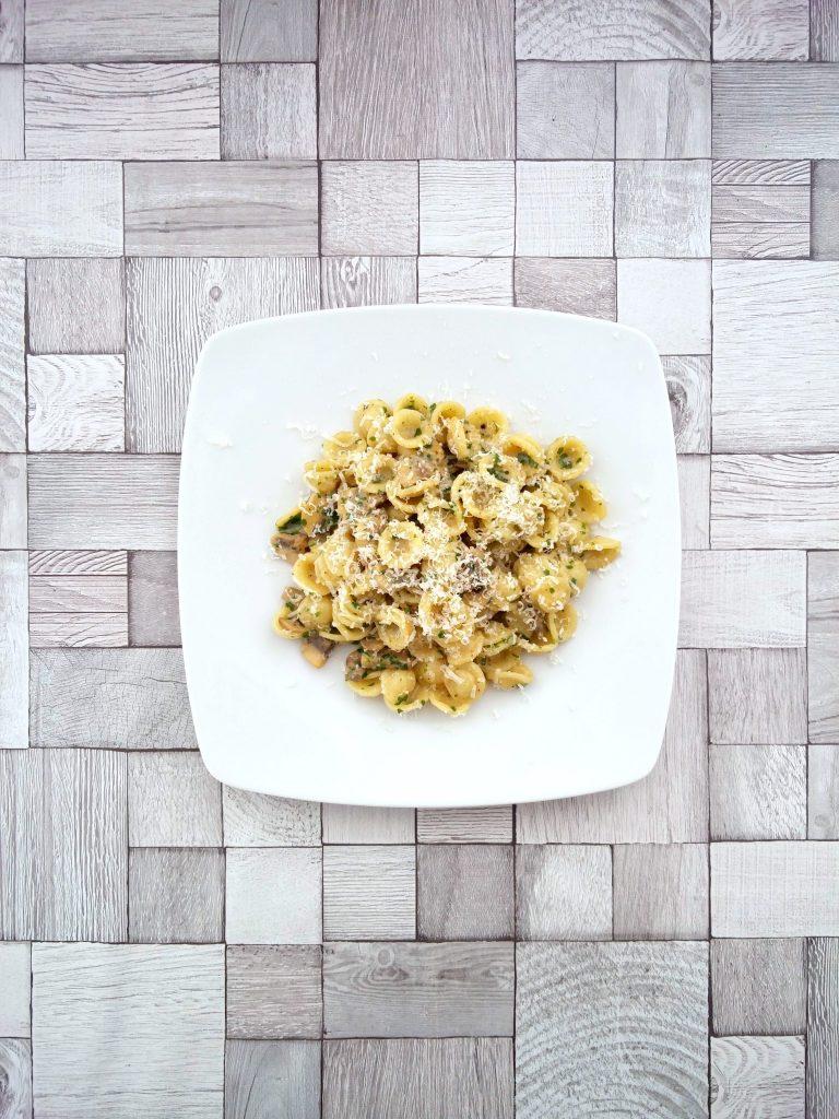 Carbonara mit Pilzen