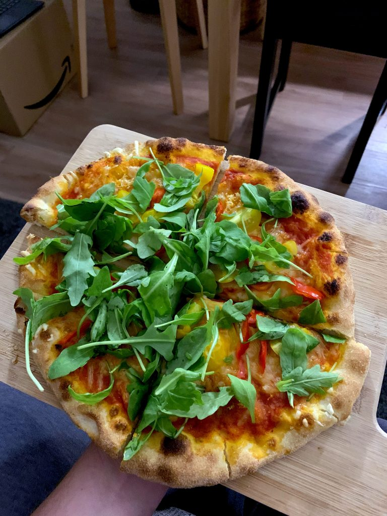 So schaut sie aus, die selbstgemachte Pizza.
